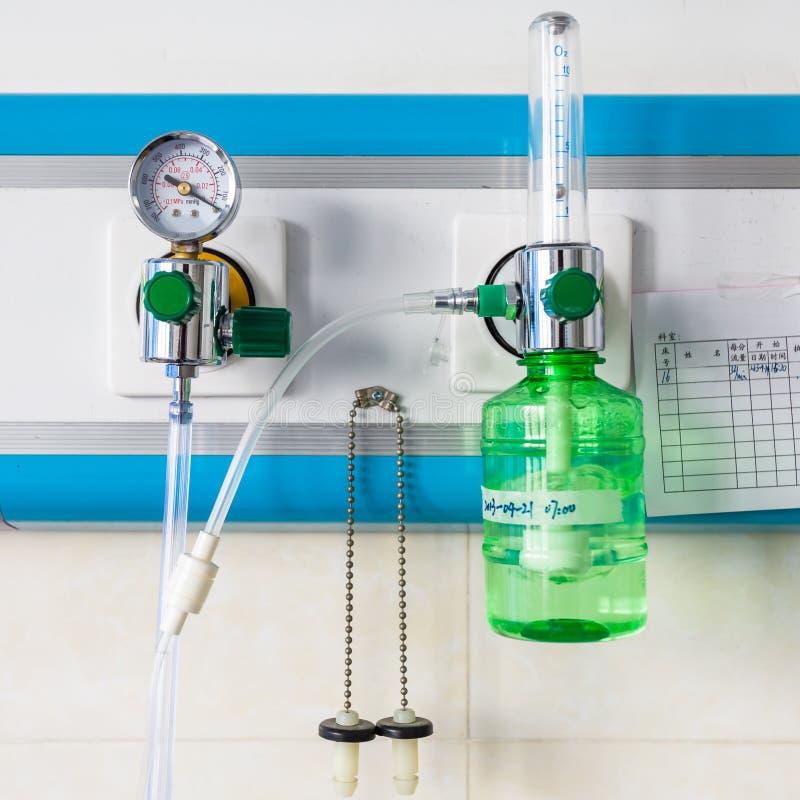 Zuurstof in het ziekenhuis stock foto's