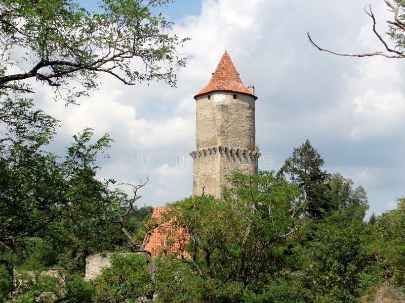 Zvikov-Schloss-Tschechische Republik lizenzfreies stockbild