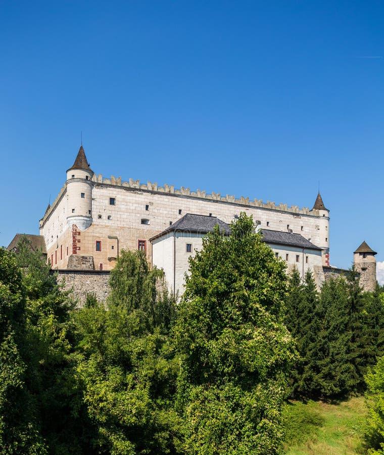 Zvolen, Σλοβακία 6 ΑΥΓΟΎΣΤΟΥ 2015 Κάστρο Zvolensky Zvolen zamok στοκ φωτογραφίες
