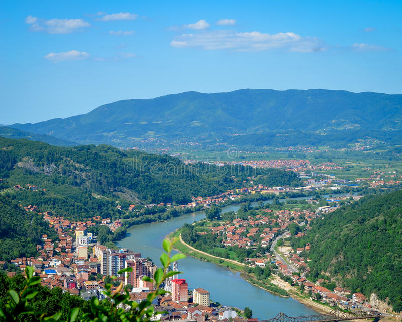 Zvornik - Bosnia and Herzegovina. Small Town in estern Bosnia royalty free stock image