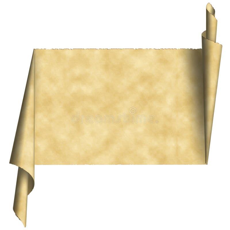 zwój papieru rocznie ilustracji
