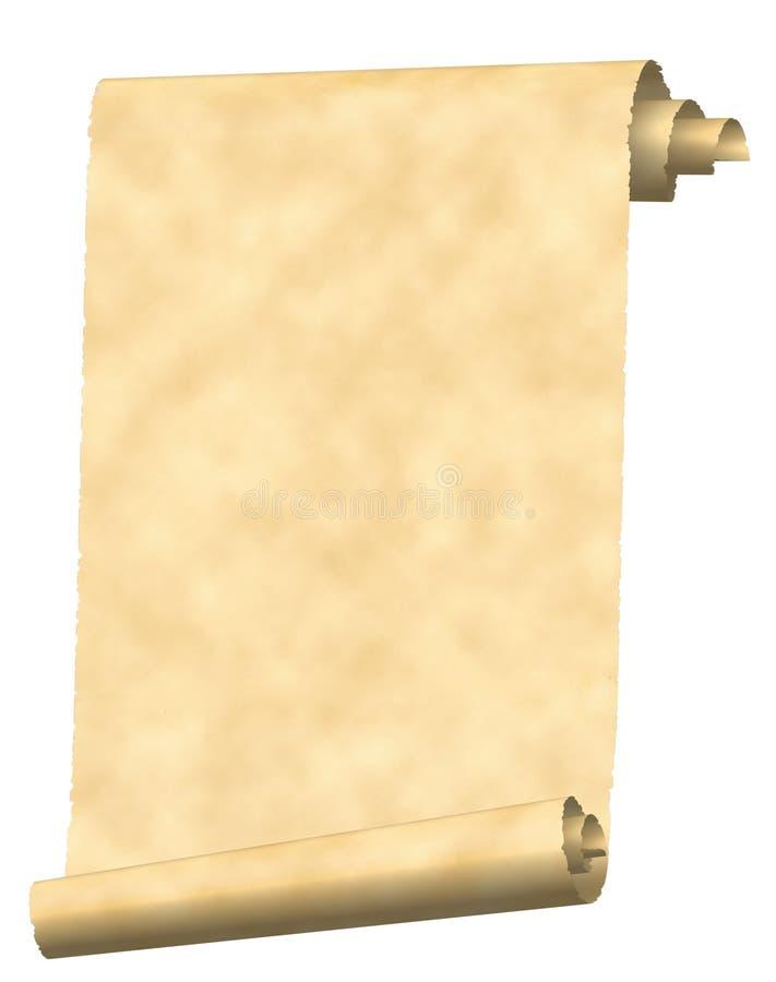 zwój papieru rocznie ilustracja wektor