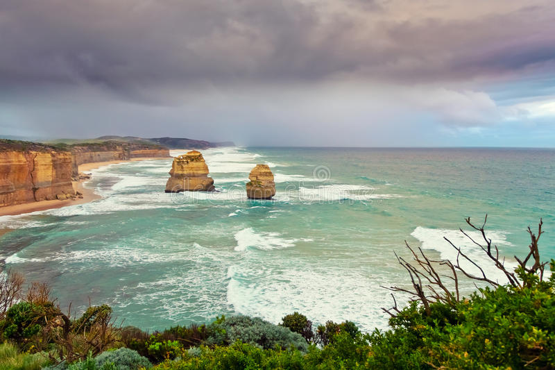 Zwölf Apostel in Australien stockbild