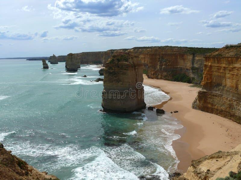 Zwölf Apostel in Australien lizenzfreie stockbilder