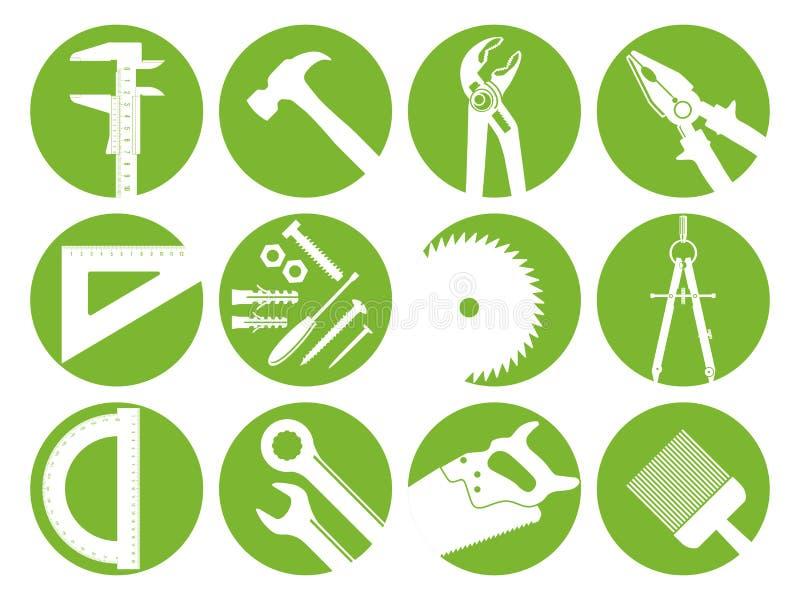 Zwölf Werkzeuge lizenzfreie abbildung