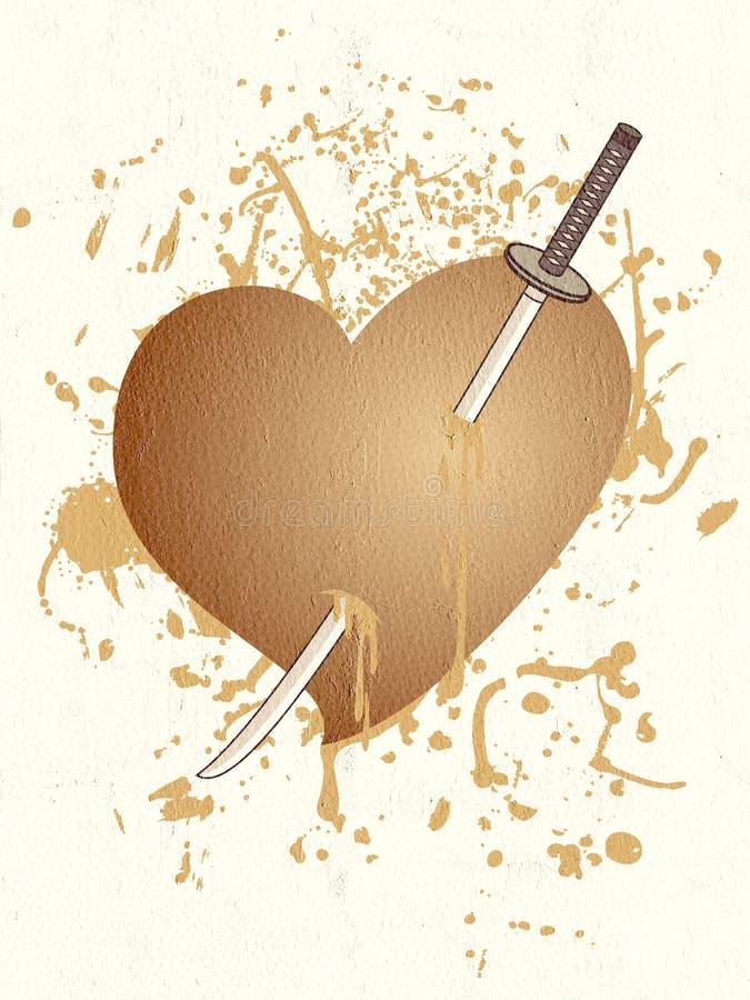 Zwłoki serce ilustracji