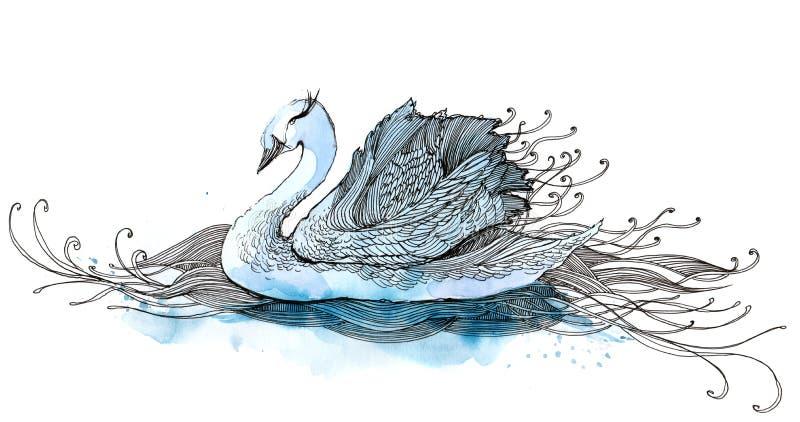 Zwaan royalty-vrije illustratie