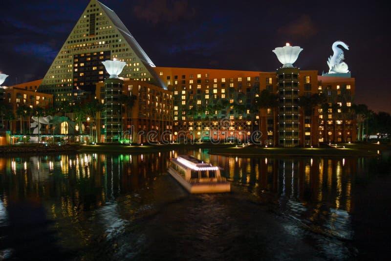 Zwaan en Dolfijn het hotel heet 8000 deelnemers van IBM Lotusphere welkom royalty-vrije stock afbeelding