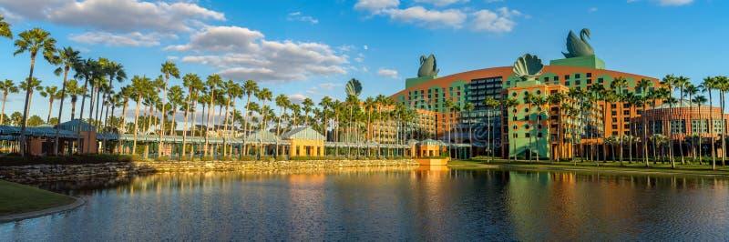 Zwaan en Dolfijnhotel, Disney-Wereld royalty-vrije stock afbeeldingen