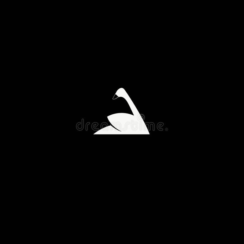 zwaanembleem, pictogram vectorilustration malplaatje Vector editable A stock illustratie