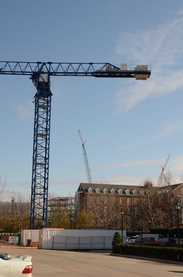 Zwaar Crane Construction royalty-vrije stock foto