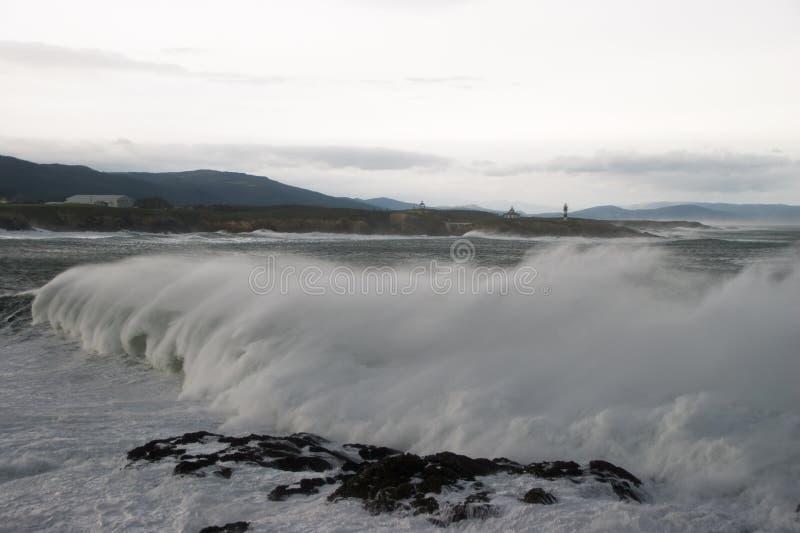 Zwaar windonweer in Galicië en Asturias royalty-vrije stock afbeelding
