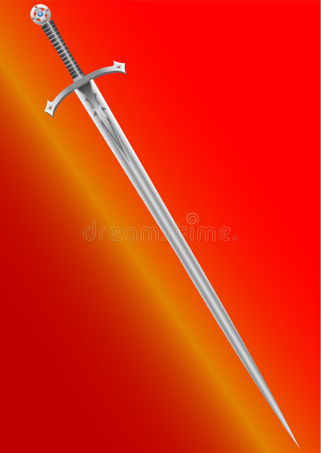 Zwaard van de ridder royalty-vrije illustratie