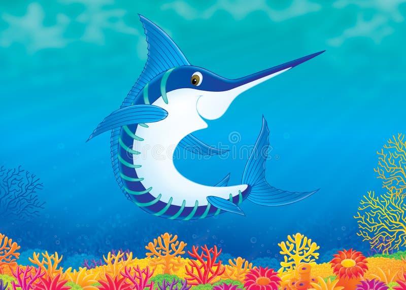 Zwaardvissen stock illustratie