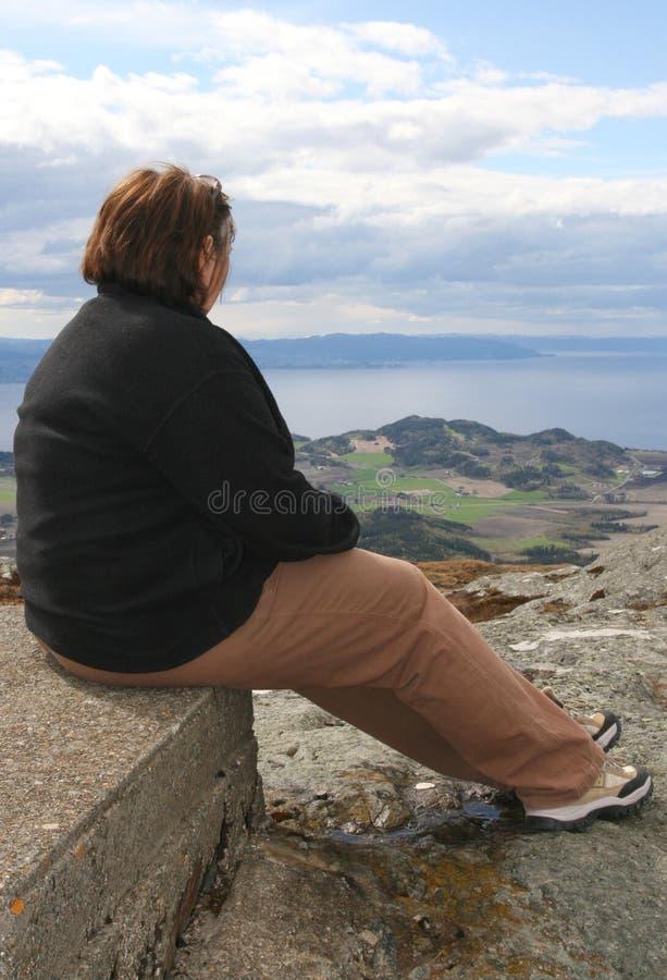 Zwaarlijvige vrouw stock foto