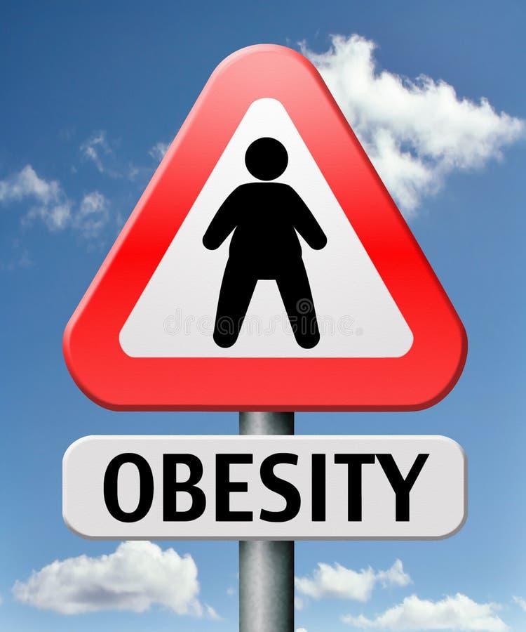 Zwaarlijvigheid die wanorde en overgewicht eten vector illustratie