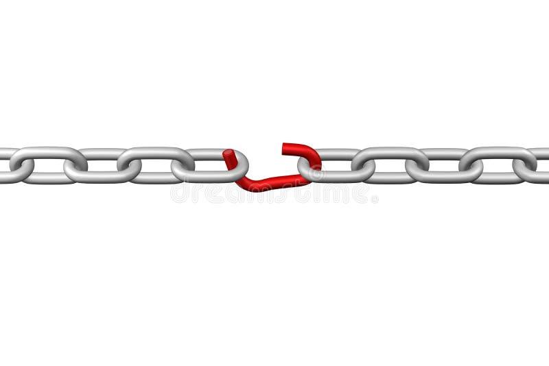 Zwakste link het 3d teruggeven vector illustratie