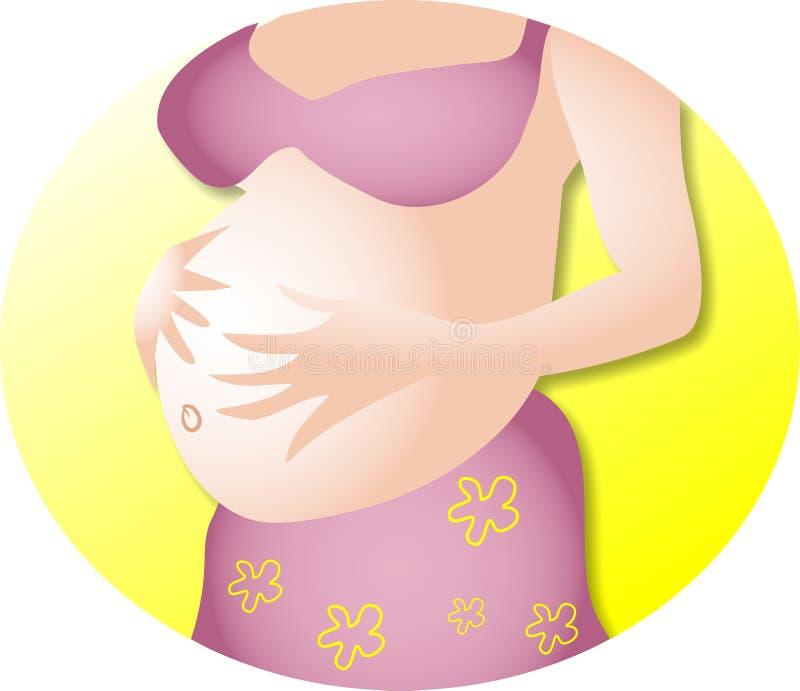 Download Zwanger stock illustratie. Afbeelding bestaande uit buik - 44109