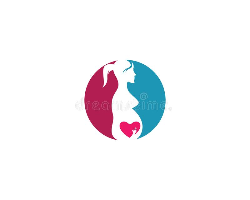 Zwanger embleemmalplaatje vector illustratie
