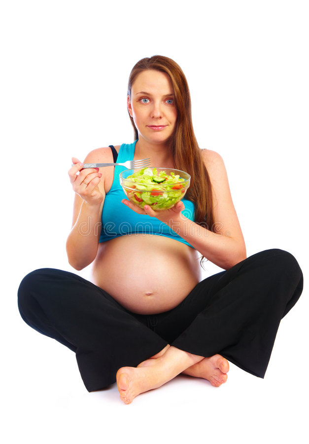 Zwanger meisje stock afbeeldingen