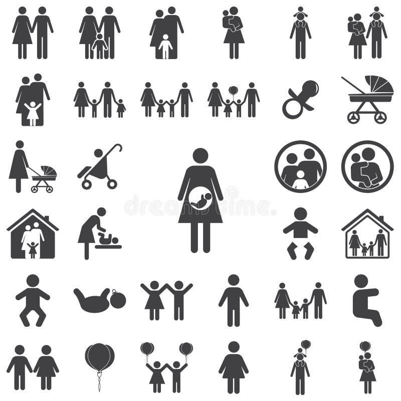 Zwanger pictogram stock illustratie