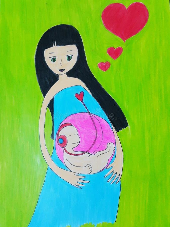 Zwangere moeder stock fotografie