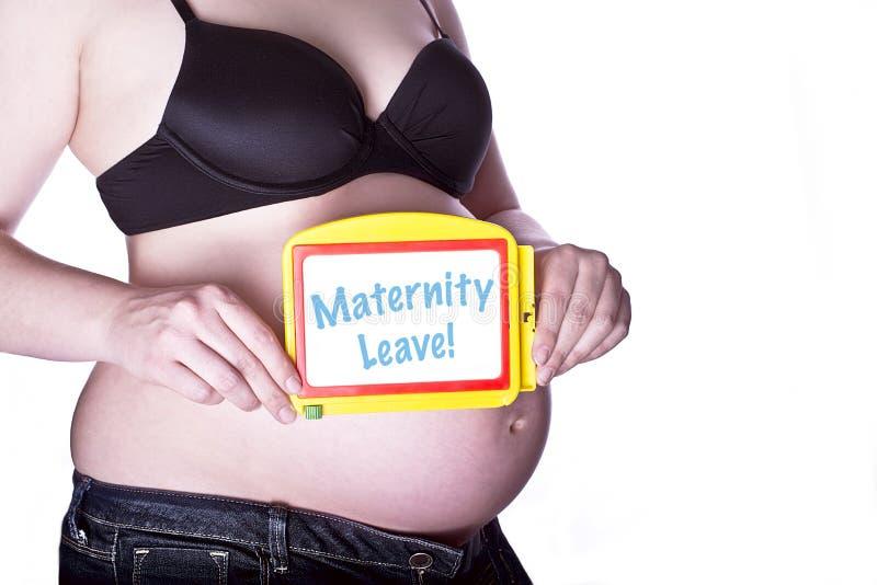 Zwangere Tekenzwangerschapsverloven stock afbeeldingen