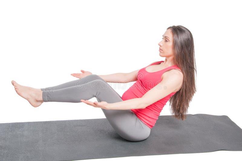 Zwangere Training stock fotografie
