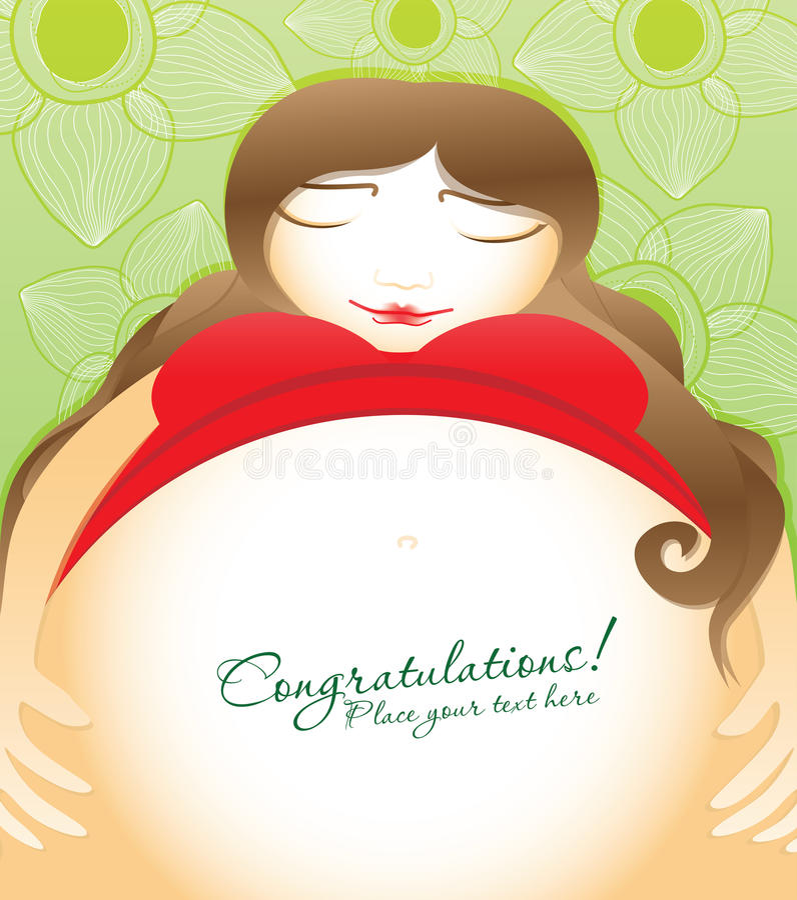 Zwangere vrouw stock illustratie