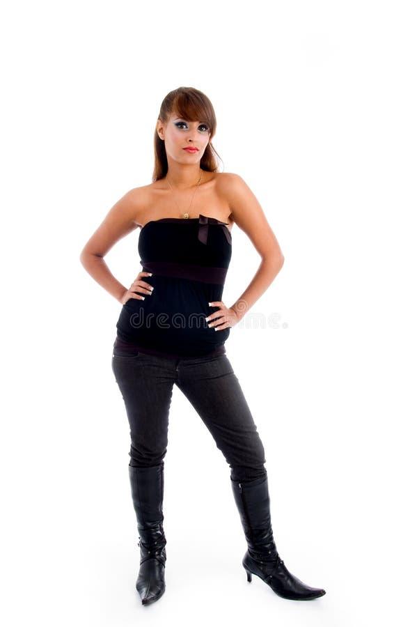 Zwangere vrouw royalty-vrije stock foto