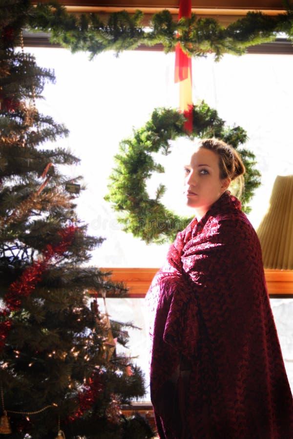 Zwangerschap 4 van Kerstmis stock afbeeldingen