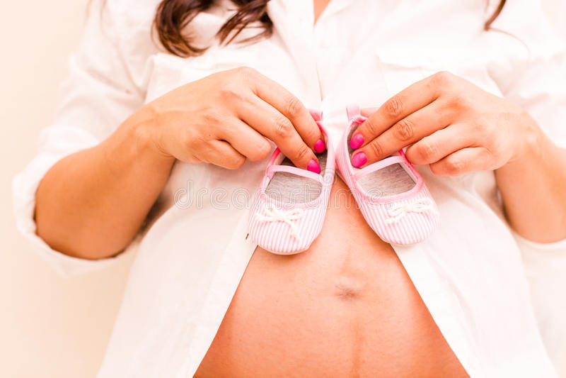 Zwangerschap stock foto