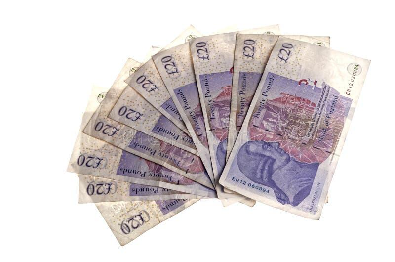 Download Zwanzig Pfund-Anmerkungen stockbild. Bild von anmerkungen - 47100007