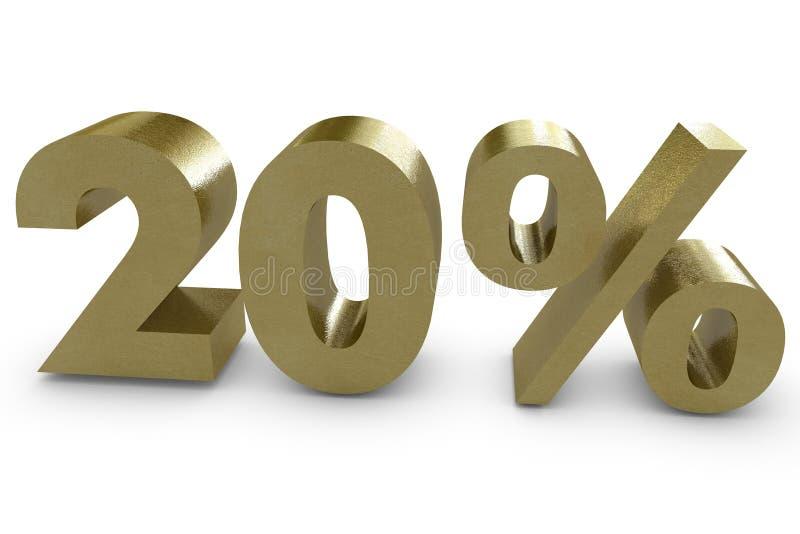 Zwanzig Prozent in 3d stock abbildung