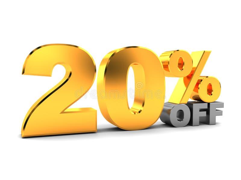 Zwanzig-Prozent-Rabatt stock abbildung