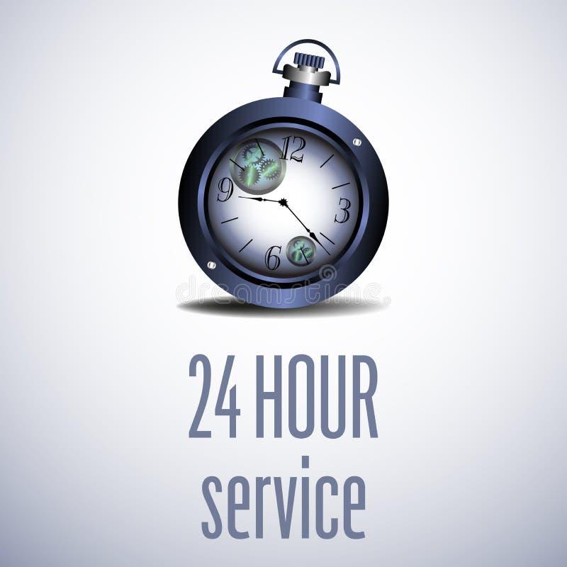 Zwanzig vier unser Service stock abbildung
