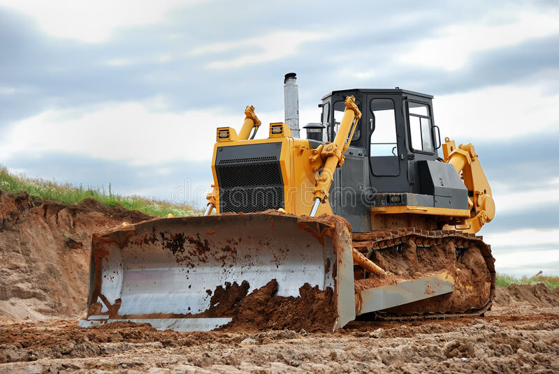Zware bulldozer royalty-vrije stock afbeeldingen