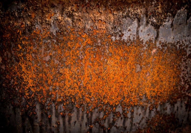 Zware geërodeerde metaaltextuur, abstracte grungeachtergrond stock foto's