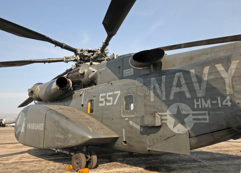 Zware het mijnenvegenhelikopter van de Marine van de V.S. royalty-vrije stock afbeeldingen