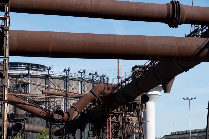 Zware industrie en mijnbouwmuseum in ostrevavitkovice in Tsjechische republiek stock afbeelding