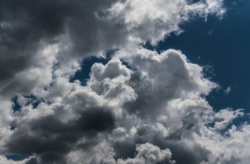 Zware massimewolken in de hemel stock foto's