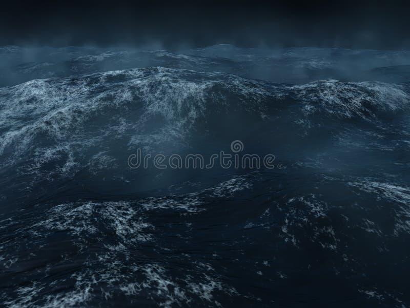 Zware overzees stock illustratie