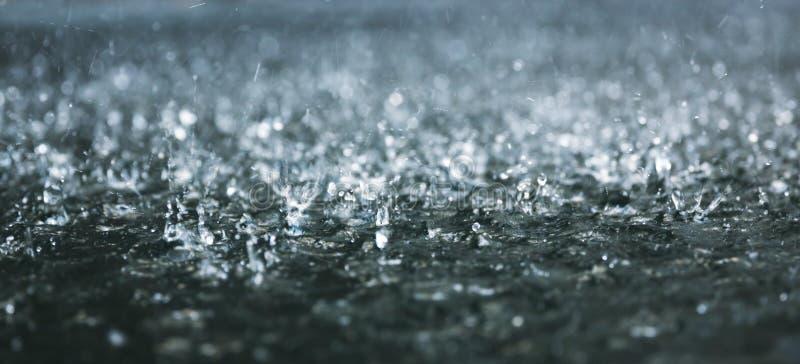 Zware regen royalty-vrije stock afbeelding