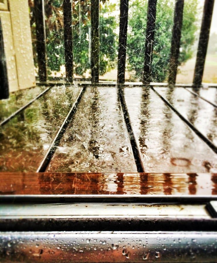 Zware regen royalty-vrije stock foto