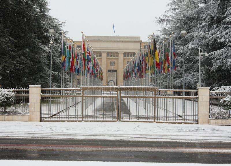 Zware sneeuwval in Genève
