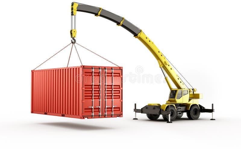 Zware verschepende container royalty-vrije illustratie