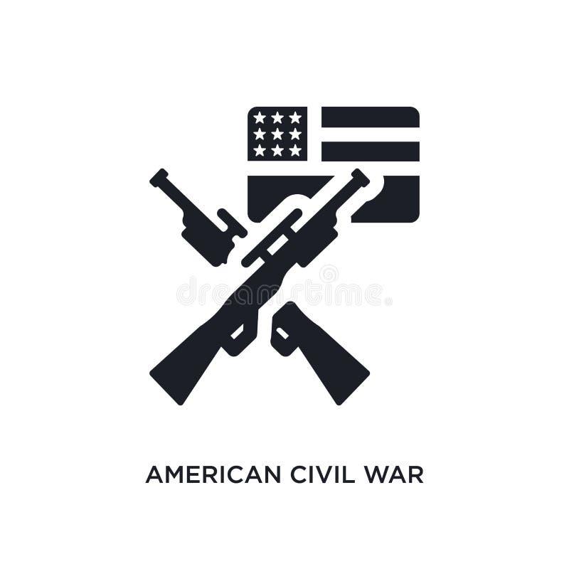 zwart Amerikaans burgeroorlog geïsoleerd vectorpictogram eenvoudige elementenillustratie van het concepten vectorpictogrammen van vector illustratie