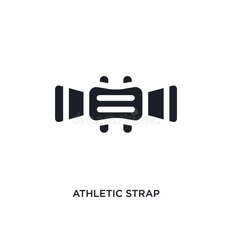 zwart atletisch riem geïsoleerd vectorpictogram eenvoudige elementenillustratie van gymnastiek en geschiktheidsconcepten vectorpi royalty-vrije illustratie