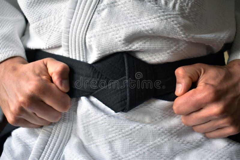 Zwart band het binden stock afbeelding