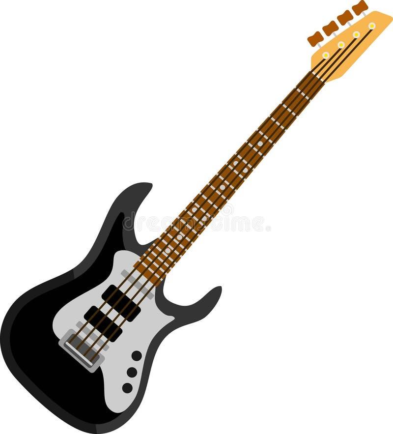 Zwart Bass Guitar royalty-vrije illustratie